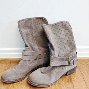 🍭 Crown Vintage Boots grey leather 8.5 womens